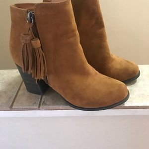 Esprit ankle booties with tassel